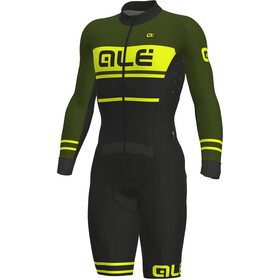 Alé Cycling PRS Fango Combinaison manches courtes Homme, black-green-fluo yellow